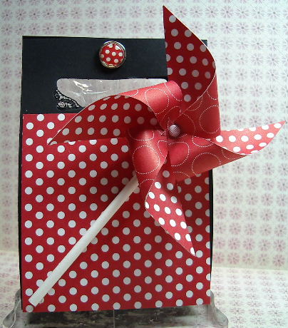 Pinwheel polka dot treat bag