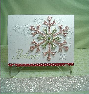 Believe snowflake card