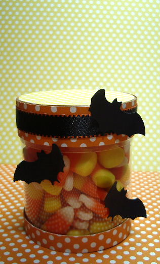 Candy Corn acetate container