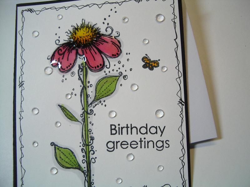 Birthday Card Using Distress Oxide Inks Polkadoodles Gina K